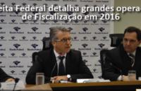 Receita detalha grandes operações de Fiscalização em 2016